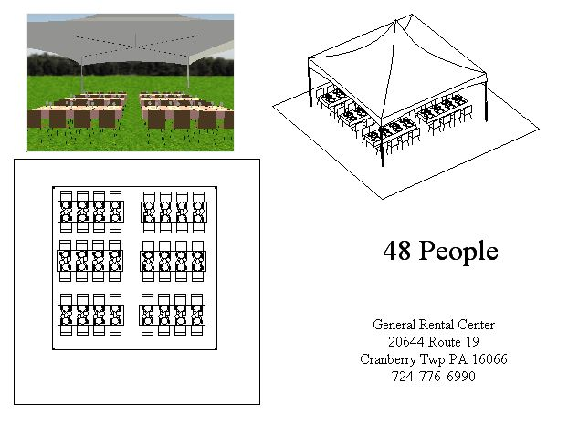 20x20 Banquet Tent Layout