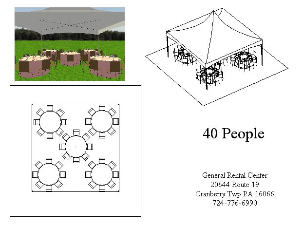 20x20 Round Tent Layout