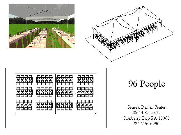20x40 Banquet Tent Layout