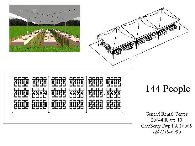 20x60 Banquet Tent Layout