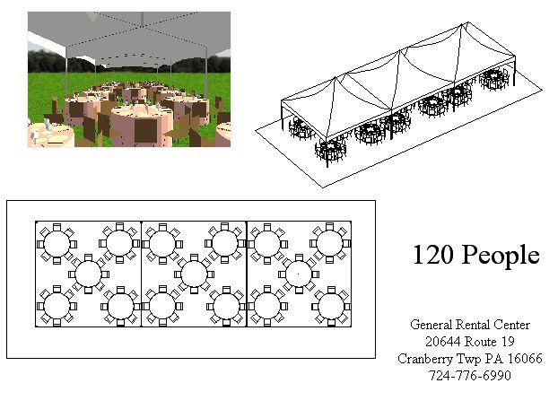 20x60 Round Tent Layout