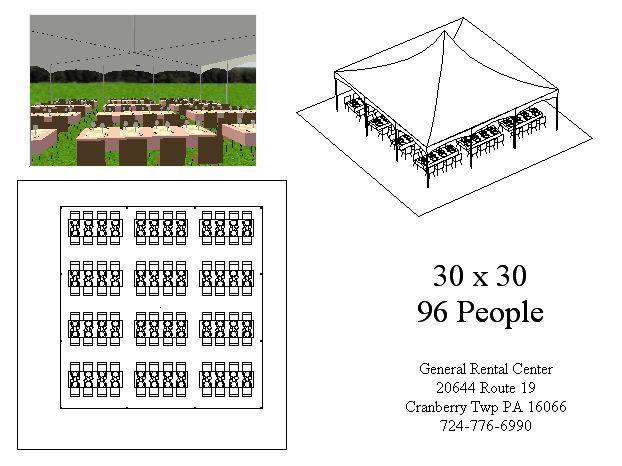 30x30 Banquet Tent Layout
