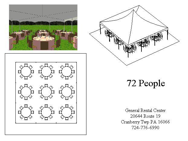 30x30 Round Tent Layout