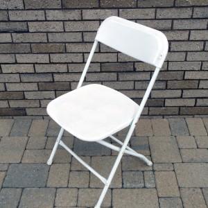 White Vinyl Chair