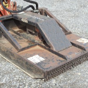 Mini Skidloader with Brush Cutter Attachment