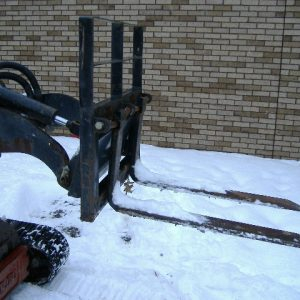 Pallet Forks Skidsteer Attachment (335 lb lift)