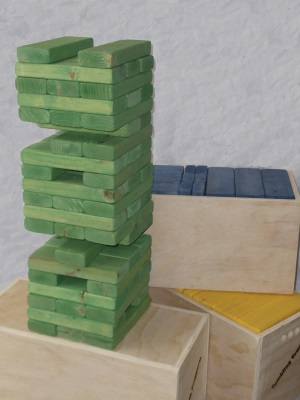 Giant Jenga Tumbling Towers