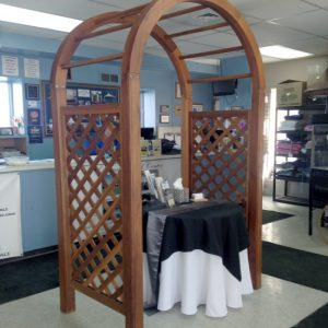 Wooden Arched Arbor