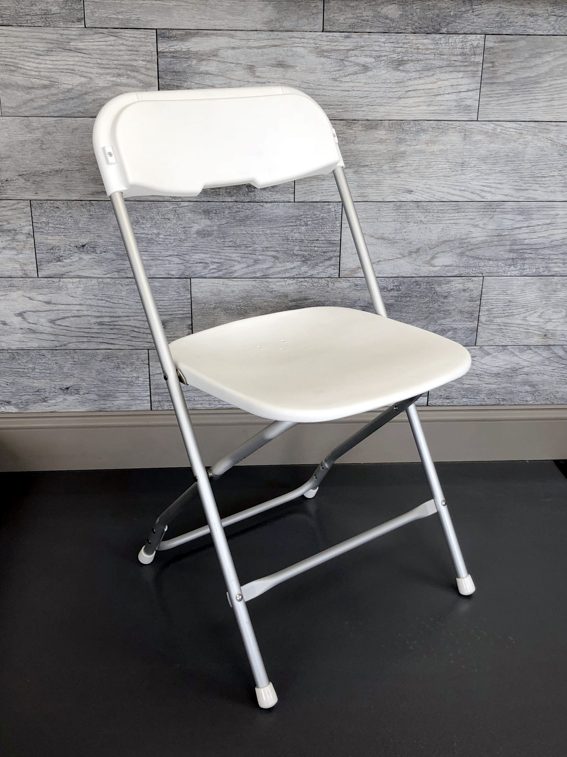 White Vinyl Chair with Aluminum Frame