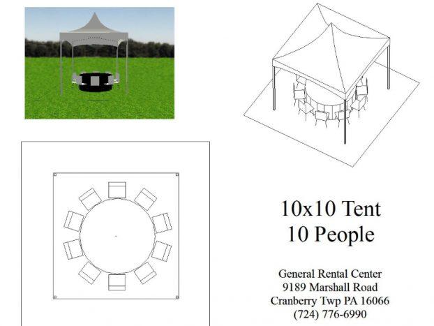 Tent 10 x 10 Frame Tent