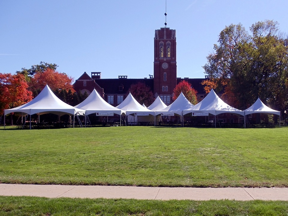 tent rentals for campus events